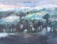 Summer monsoon |五月山林 |Oil on Silk | 55*70CM