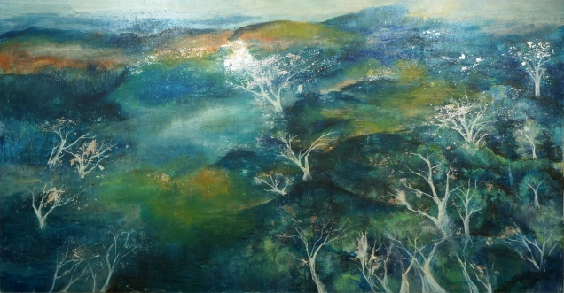 浮華若水|Trees in Water|Oil on Canvas |100*150cm